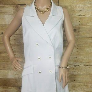 White halter 2pc suit